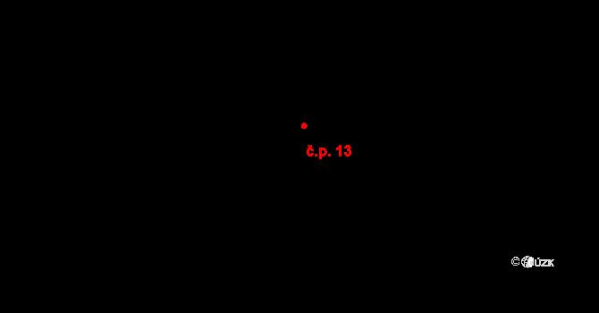 Kozašice 13, Jankovice na parcele st. 15 v KÚ Kozašice, Katastrální mapa