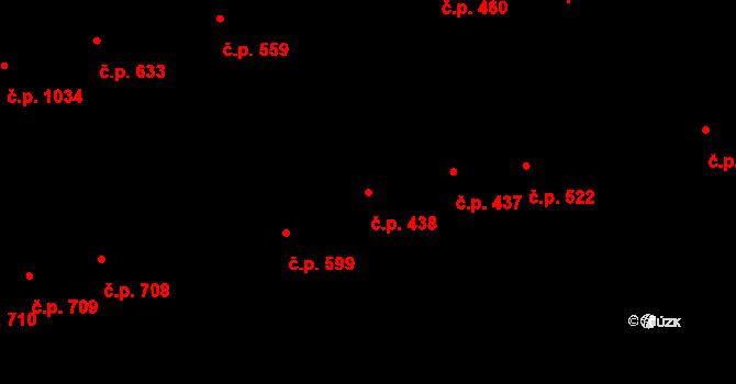 Zelené Předměstí 438, Pardubice na parcele st. 965 v KÚ Pardubice, Katastrální mapa