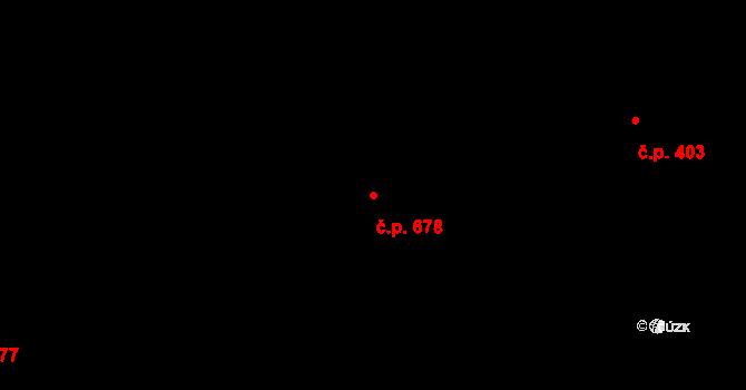 Trojanovice 678 na parcele st. 2099 v KÚ Trojanovice, Katastrální mapa