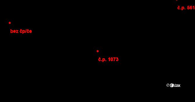 Rozdělov 1073, Kladno na parcele st. 1729 v KÚ Rozdělov, Katastrální mapa