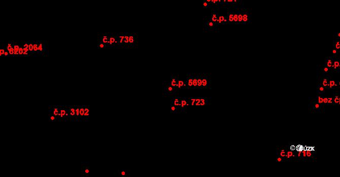 Zlín 5699 na parcele st. 4282/2 v KÚ Zlín, Katastrální mapa