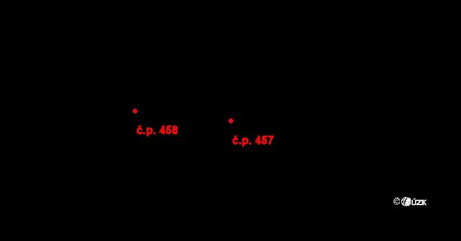 Krčín 457, Nové Město nad Metují na parcele st. 588 v KÚ Krčín, Katastrální mapa