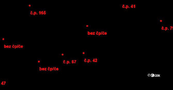 Lužná 42 na parcele st. 531 v KÚ Lužná u Vsetína, Katastrální mapa