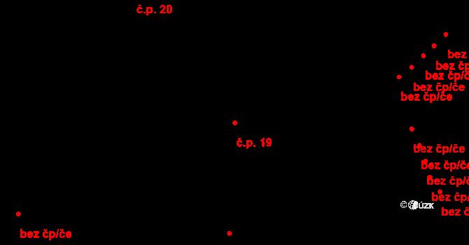 Hejtmánkovice 19 na parcele st. 3/2 v KÚ Hejtmánkovice, Katastrální mapa