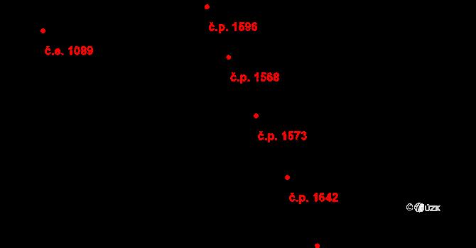Aš 1573 na parcele st. 1713/1 v KÚ Aš, Katastrální mapa