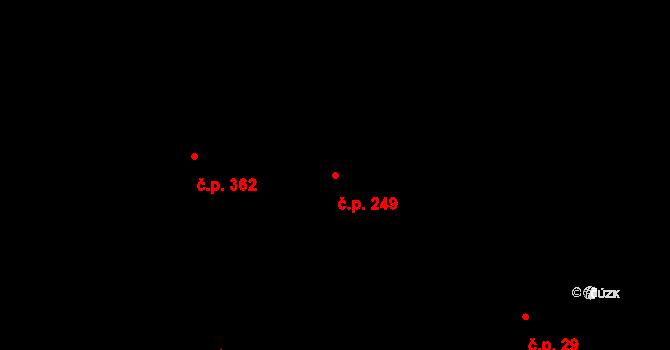 Karlín 249, Praha na parcele st. 287 v KÚ Karlín, Katastrální mapa