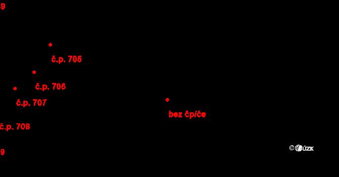 Roudnice nad Labem 2491 na parcele st. 2003/2 v KÚ Roudnice nad Labem, Katastrální mapa