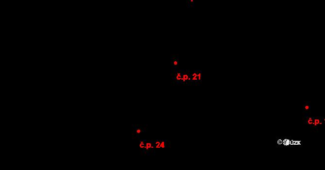 Libíň 21, Sedlčany na parcele st. 21 v KÚ Libíň, Katastrální mapa