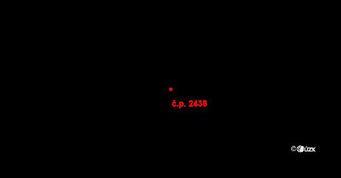 Jižní Předměstí 2438, Plzeň na parcele st. 12843 v KÚ Plzeň, Katastrální mapa