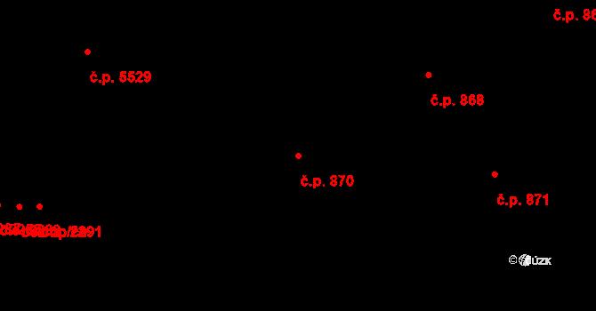 Zlín 870 na parcele st. 964 v KÚ Zlín, Katastrální mapa