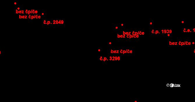 Teplice 3296 na parcele st. 3033/8 v KÚ Teplice, Katastrální mapa