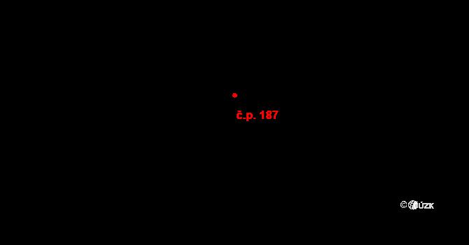 Klikov 187, Suchdol nad Lužnicí na parcele st. 678/2 v KÚ Klikov, Katastrální mapa