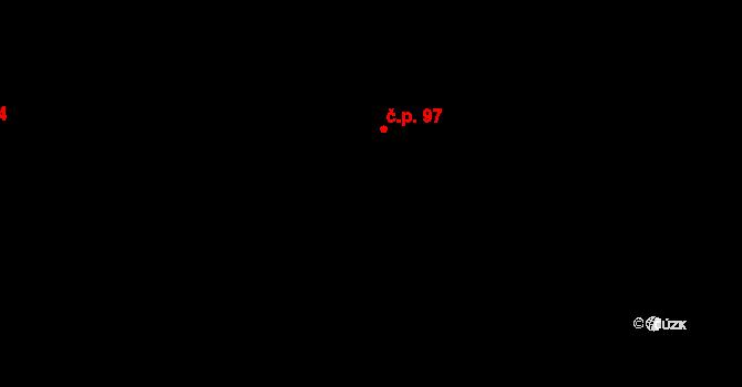 Bílý Potok 97 na parcele st. 195 v KÚ Bílý Potok pod Smrkem, Katastrální mapa