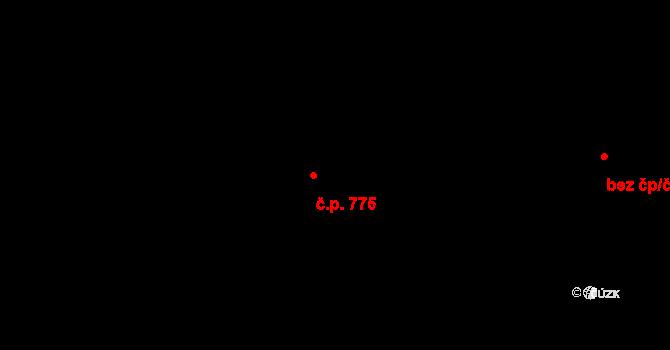 Městec Králové 775 na parcele st. 991/23 v KÚ Městec Králové, Katastrální mapa