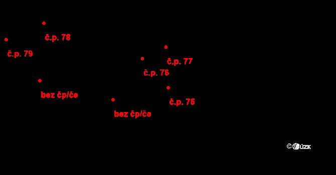 Liberec XIX-Horní Hanychov 75, Liberec na parcele st. 385 v KÚ Horní Hanychov, Katastrální mapa