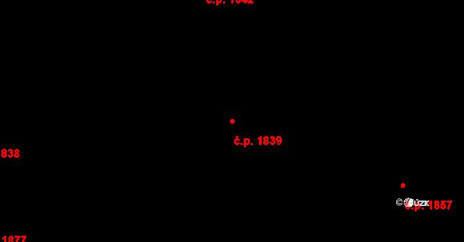 Bílé Předměstí 1839, Pardubice na parcele st. 10621 v KÚ Pardubice, Katastrální mapa