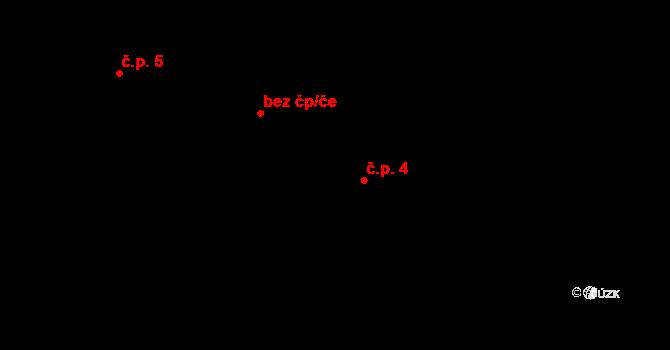 Vlčkov 4 na parcele st. 45 v KÚ Vlčkov, Katastrální mapa