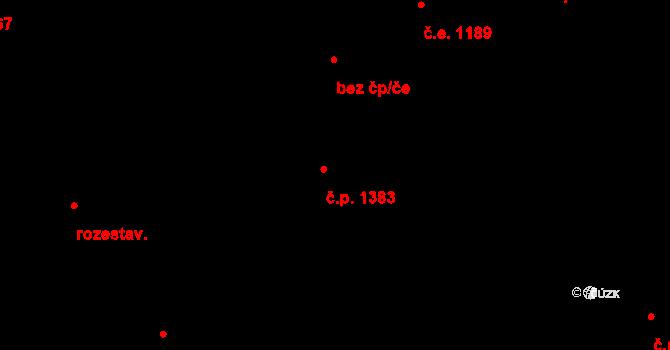 Černošice 1383 na parcele st. 2096 v KÚ Černošice, Katastrální mapa