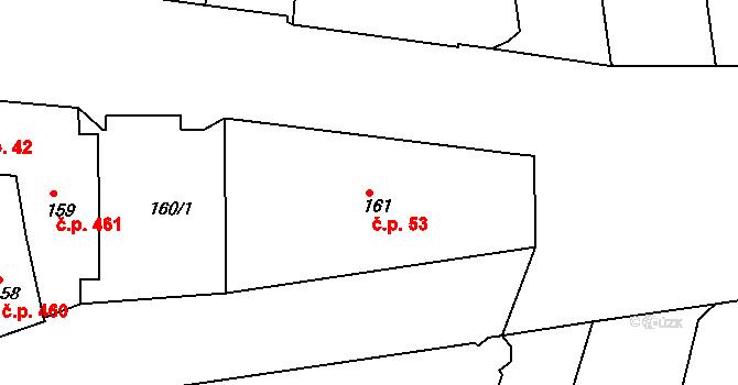 Brno-město 53, Brno na parcele st. 161 v KÚ Město Brno, Katastrální mapa