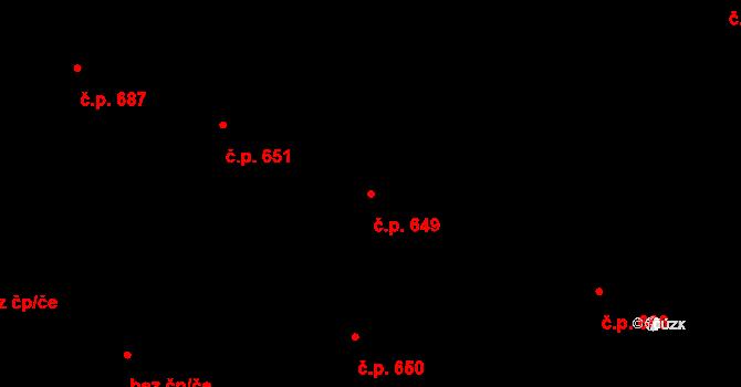 Hradec Králové 649 na parcele st. 737 v KÚ Hradec Králové, Katastrální mapa
