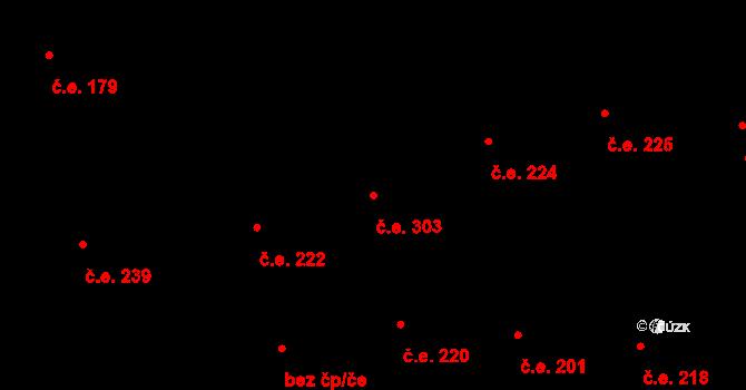 Malšovice 303, Hradec Králové na parcele st. 1158 v KÚ Malšovice u Hradce Králové, Katastrální mapa