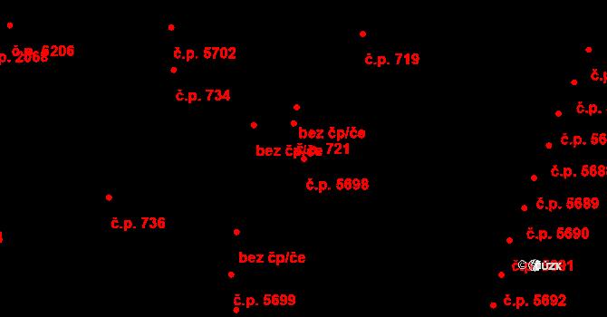 Zlín 5698 na parcele st. 4281/3 v KÚ Zlín, Katastrální mapa