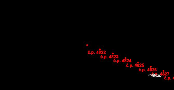 Zlín 4822 na parcele st. 7005 v KÚ Zlín, Katastrální mapa