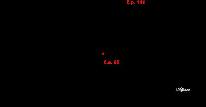 Děhylov 55 na parcele st. 276 v KÚ Děhylov, Katastrální mapa