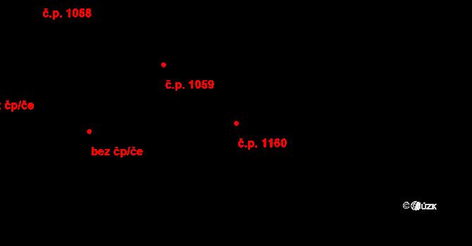 Liberec XIV-Ruprechtice 1160, Liberec na parcele st. 2209/20 v KÚ Ruprechtice, Katastrální mapa