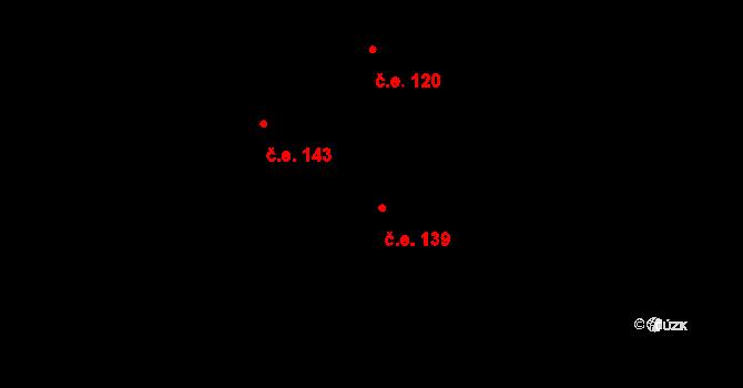 Davle 139 na parcele st. 753 v KÚ Davle, Katastrální mapa
