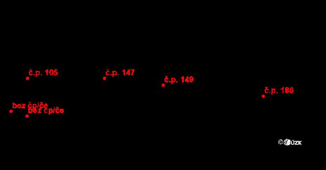 Studánka 149 na parcele st. 192 v KÚ Studánka u Tachova, Katastrální mapa