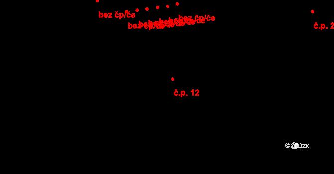 Rodná 12 na parcele st. 35 v KÚ Rodná, Katastrální mapa