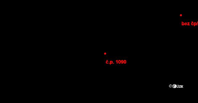 Nivnice 1090 na parcele st. 1973/61 v KÚ Nivnice, Katastrální mapa