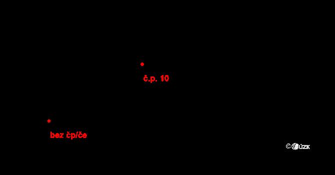 Čermná 10, Libouchec na parcele st. 10/1 v KÚ Čermná u Libouchce, Katastrální mapa