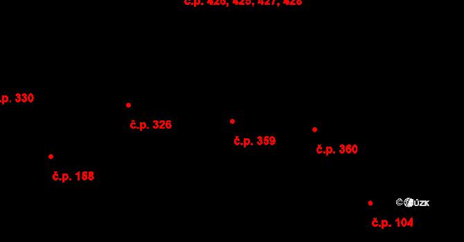 Litovel 359 na parcele st. 764 v KÚ Litovel, Katastrální mapa