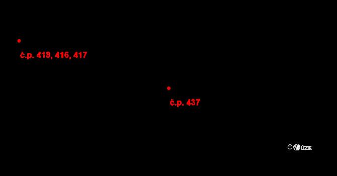 Lazce 437, Olomouc na parcele st. 561 v KÚ Lazce, Katastrální mapa