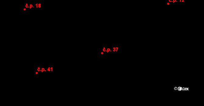Sedlejov 37 na parcele st. 37 v KÚ Sedlejov, Katastrální mapa