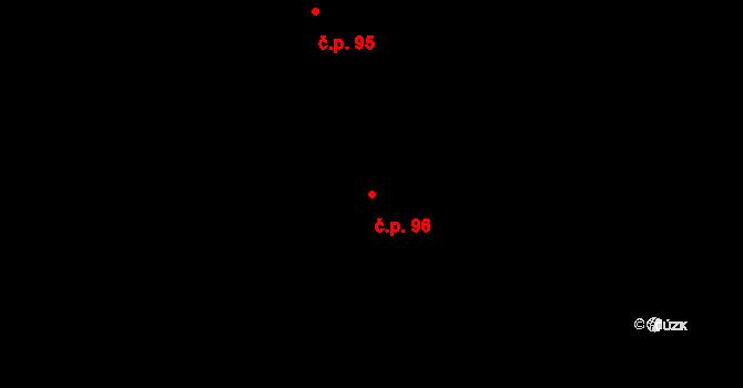 Pod Bezručovým vrchem 96, Krnov na parcele st. 213 v KÚ Krnov-Horní Předměstí, Katastrální mapa