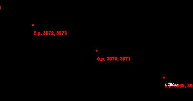Jihlava 3970,3971 na parcele st. 5468/404 v KÚ Jihlava, Katastrální mapa