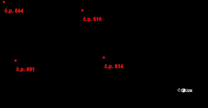 Brno-město 614, Brno na parcele st. 258 v KÚ Město Brno, Katastrální mapa