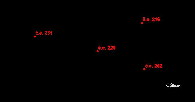 Hradec 226 na parcele st. 393 v KÚ Hradec u Stoda, Katastrální mapa