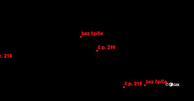 Plavsko 216 na parcele st. 324 v KÚ Plavsko, Katastrální mapa