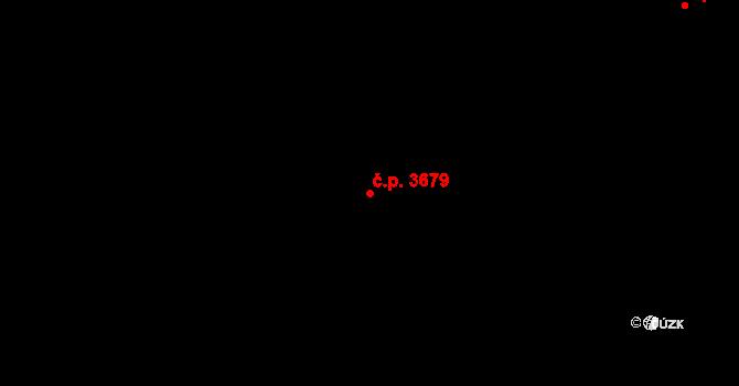 Mělník 3679 na parcele st. 7124/28 v KÚ Mělník, Katastrální mapa