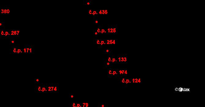Kokory 133 na parcele st. 77 v KÚ Kokory, Katastrální mapa