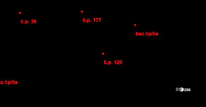 Zásada 120 na parcele st. 380 v KÚ Zásada, Katastrální mapa