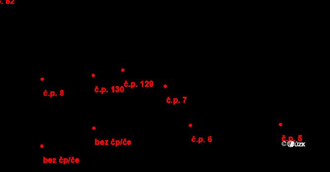 Plavsko 7 na parcele st. 44/1 v KÚ Plavsko, Katastrální mapa