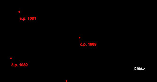 Nivnice 1069 na parcele st. 1981/67 v KÚ Nivnice, Katastrální mapa