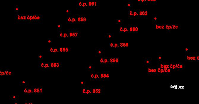 Valtice 856 na parcele st. 1965 v KÚ Valtice, Katastrální mapa