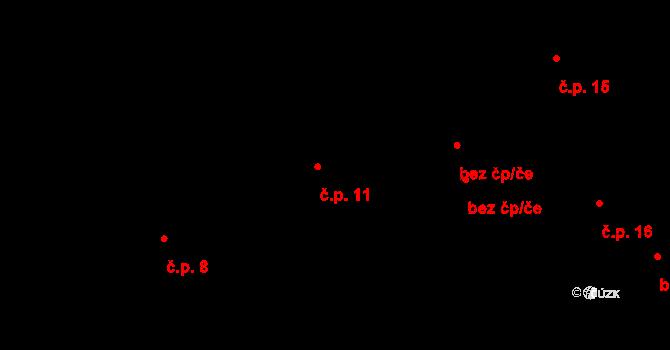 Dolní Bezděkov 11, Bratronice na parcele st. 30/1 v KÚ Dolní Bezděkov u Kladna, Katastrální mapa