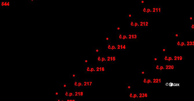 Slatina 215, Brno na parcele st. 1764 v KÚ Slatina, Katastrální mapa